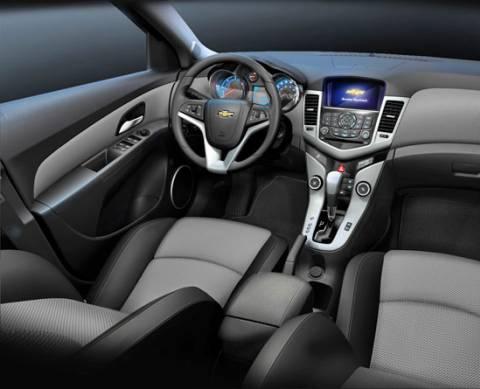 Intérieur de la Chevrolet CRUZE,